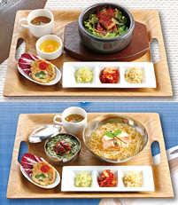 うなぎの石焼ビビンバ定食と「冷麺とうなぎご飯定食」