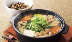 たっぷり野菜の薬膳風もつ鍋~五豆と五穀のミニごはんつき