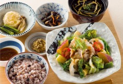 温野菜の豚しゃぶ定食