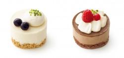 やさしい豆乳スイーツ レアチーズ風(左)、やさしい豆乳スイーツ ショコラ(右)