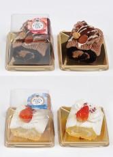 ベルギーチョコレートノエルミニ(上)、ホワイトチョコレートノエル(下)