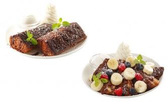 チョコプレーン(左)、チョコバナナ(右)