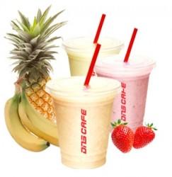 フルーツ、ジュース、ブースターがカスタマイズできる、トレーニング後のプロティン補給に最適なMRS(食事代替シェイク)