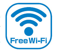 Free Wi-Fiのステッカーデザイン