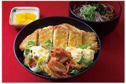 キムチカツ丼(ミニそば付)