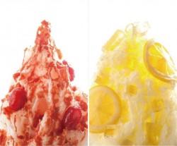 5月限定フレーバー「完熟トマト&チーズ」(左)、「はちみつレモン」(右)