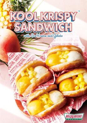 クール クリスピー サンドシリーズ第2弾は、マンゴージェラートとバニラアイスの「クール クリスピー サンド マンゴー&バニラ with パイン」