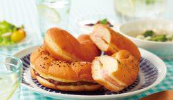 岩塩とバターでほろじょっぱい「塩ドーナツ」。プレーン、めんたいマヨ、北海道あずきの3種類がある