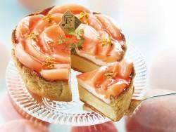 6月のタルト「白桃とヨーグルトクリームのチーズタルト」