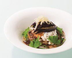 香味野菜と刻み長芋の和風おろしハンバーグ