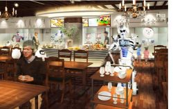 ロボット店長とロボットシェフが運営する「変なレストラン」