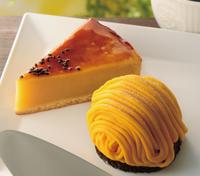 スイートポテトケーキ(左)、かぼちゃのモンブラン(右)