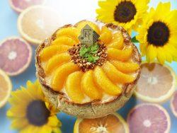 8月の季節限定タルト「~真夏のひまわり~たっぷりオレンジのチーズタルト」