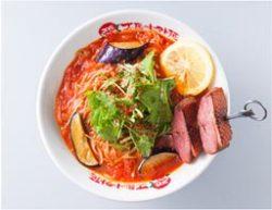 創業10周年企画第9弾「アジアンハーブのロースト合鴨ブロシェットトマト麺」