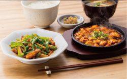 青椒肉絲と麻婆豆腐の定食