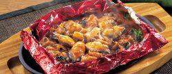 広島県産牡蠣と国産豚肉の包み焼き~チゲ仕立て~