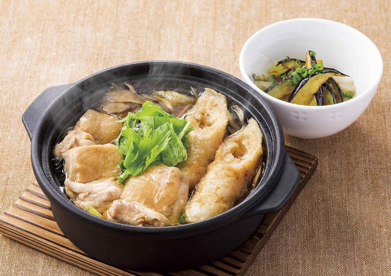 鶏鍋(茄子小鉢つき)~きりたんぽ風