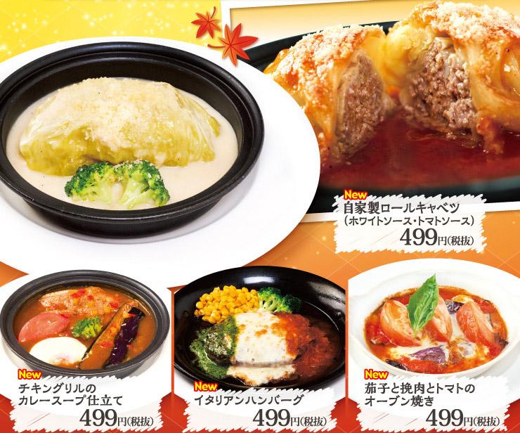 499円のオリジナル肉料理