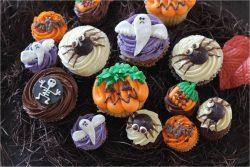 4種類のハロウィンカップケーキ