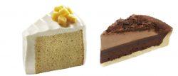 安納芋のシフォンケーキ(左)、チョコレートタルト(右)
