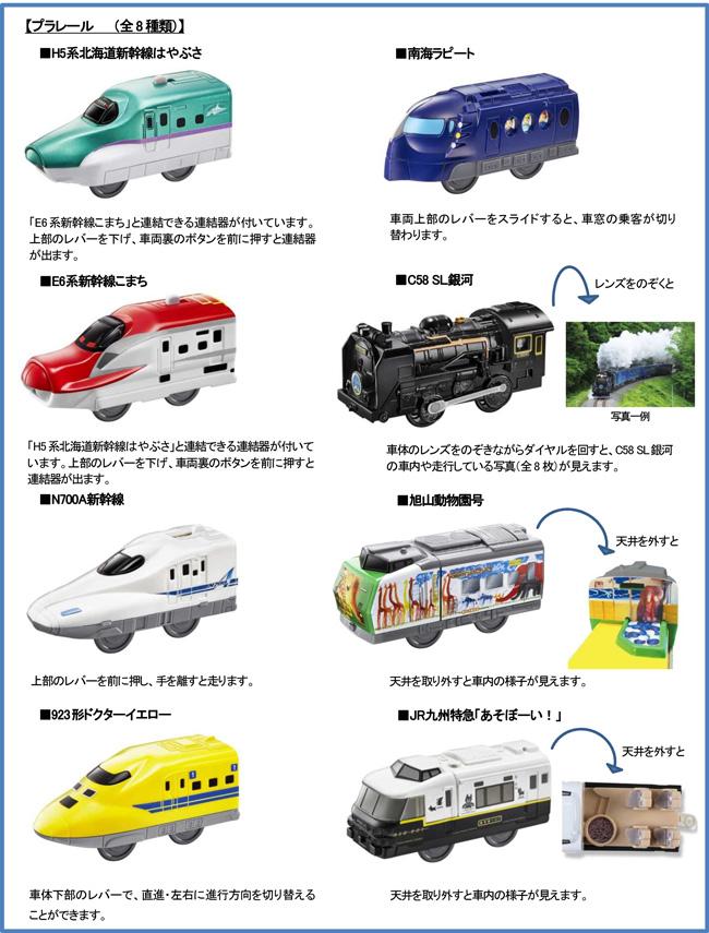 半世紀以上にわたる人気玩具「プラレール」の鉄道玩具