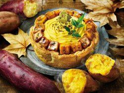 安納芋とアールグレイクリームのチーズタルト