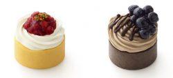 やさしい豆乳スイーツシリーズ。いちごロール(左)とブルーベリーショコラ(右)
