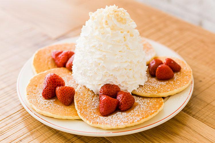 ストロベリーのパンケーキ