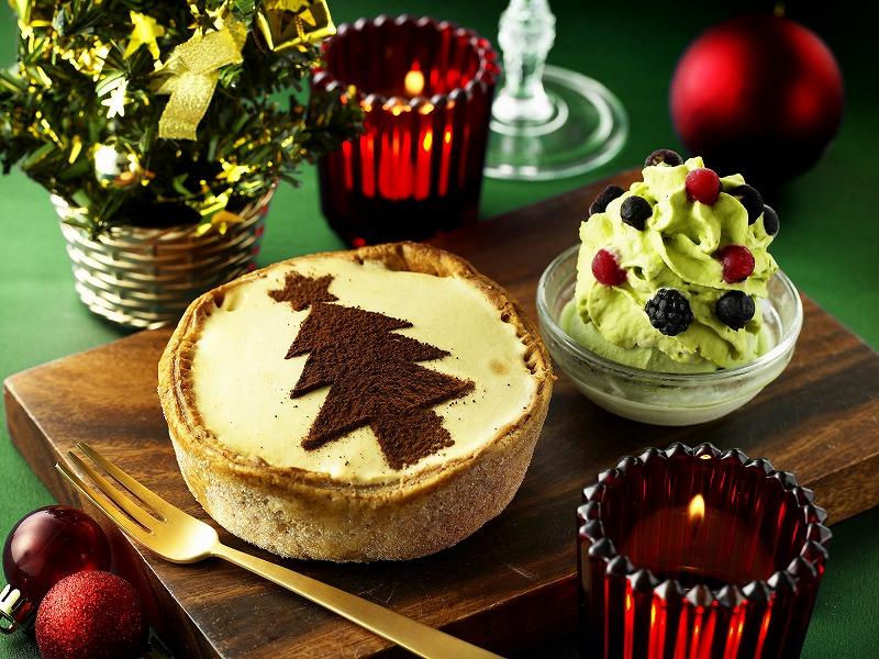 クリスマスバージョンの「焼きたてミニチーズタルト クリスマス×キャラメル」