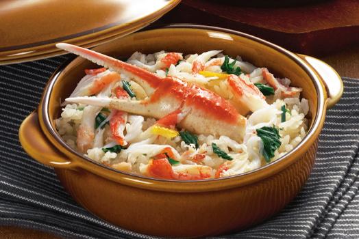 ずわい蟹ZEN 蟹の炊き込みご飯&海老と帆立のあつあつグリル(小)