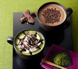 チョコリスタ(右)、チョコレート&抹茶モカ(左)