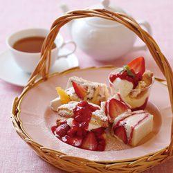 苺のアフタヌーンティーセット