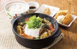 鍋ハンバーグ膳(ごはん・牡蠣フライ2コつき)