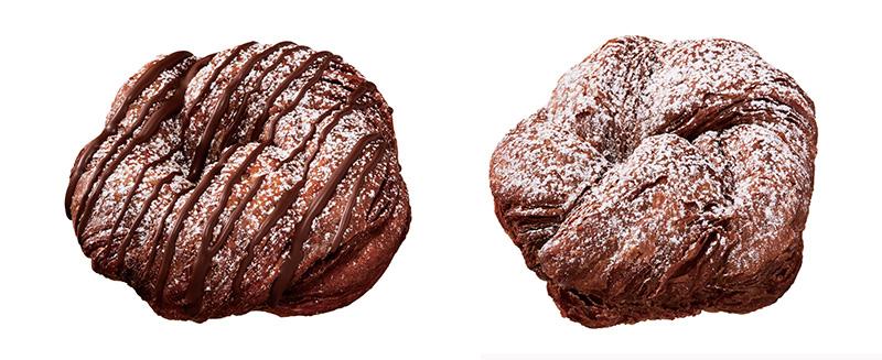 ショコラデニッシュ チョコ(左)、ショコラデニッシュ ホイップ(右)