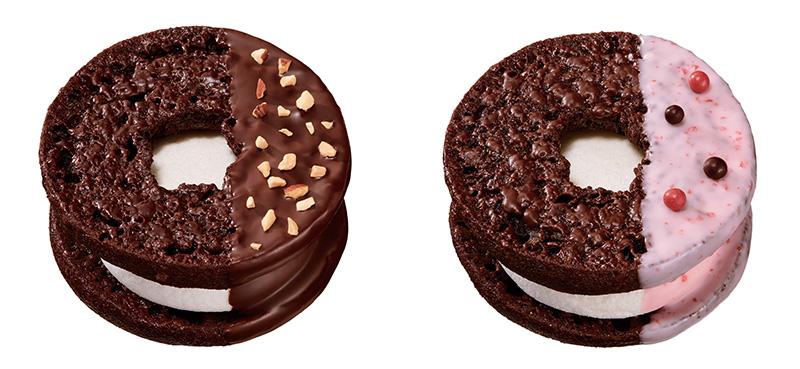 焼きマシュマロチョコレート チョコアーモンド(左)、焼きマシュマロチョコレート ストロベリー(右)