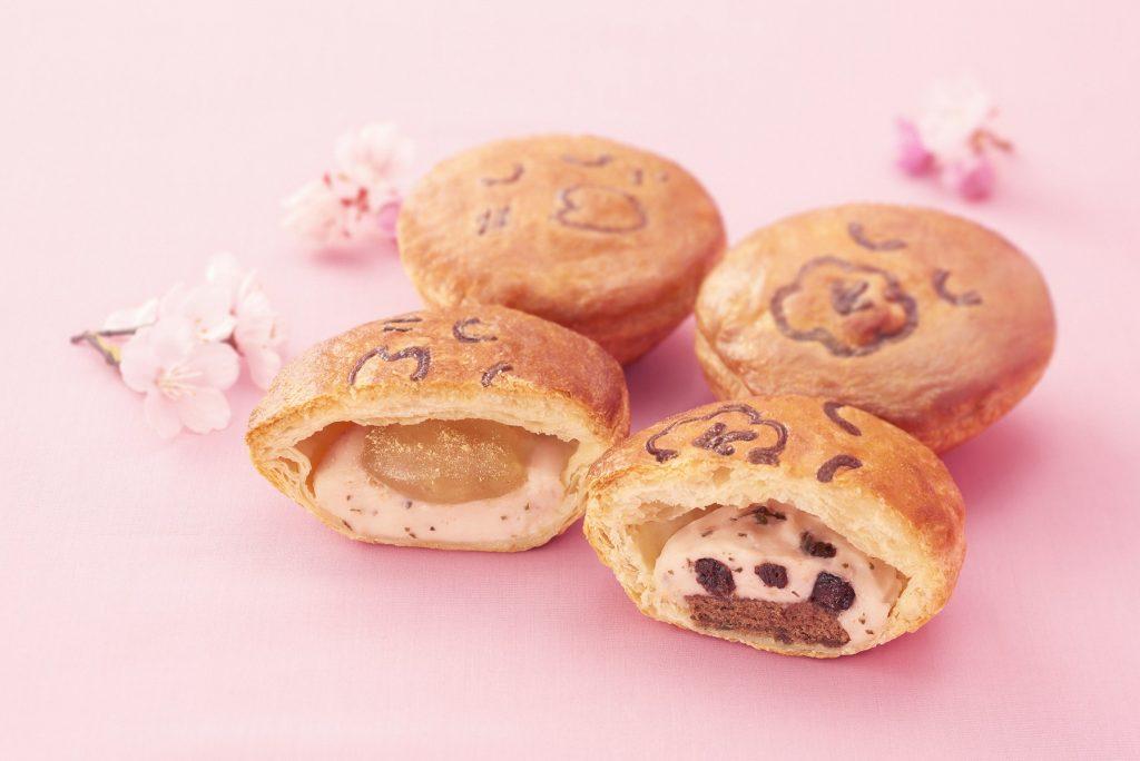 もちもち桜わらび餅(左)、さくさく桜チョコ(右)
