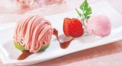 苺と桜のモンブラン