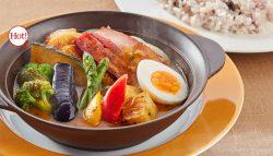 彩り野菜と濃厚ベーコンのスパイシースープカレー雑穀米セット