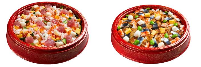 こども向けの「華やかひなちらし」(左)と大人向けの「炙り穴子と北釧いわしの店仕込ちらし」(右)