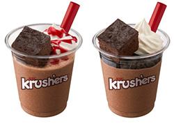 Krushers贅沢ビターショコラ。フランボワーズ(左)と、ココアビスケット(右)
