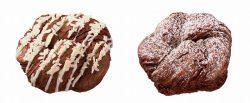 ショコラデニッシュ ホワイト(左)、ショコラデニッシュ ホイップ(右)