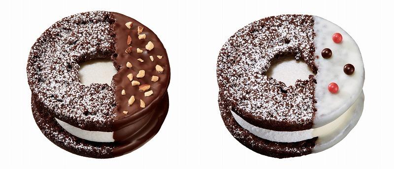 焼きマシュマロチョコレート チョコアーモンドスノー(左)、焼きマシュマロチョコレート ホワイト(右)