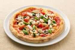 海の恵み、レモンマリネのピッツァ