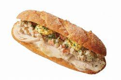 モーニングCセット ライ麦サンド 彩り根菜とチキン