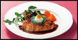 宮城県気仙沼産メカジキのステーキ ジンジャーバターソース