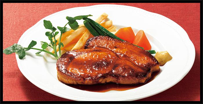 国産豚ロースステーキ ジンジャーバターソース