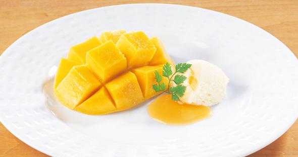 フレッシュマンゴー ~スイートチーズ添え~
