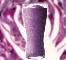 紫キャベツ&ブルーベリースムージー