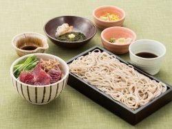 鹿児島県・枕崎水揚げ 一本釣り鰹丼とせいろ蕎麦