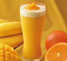 マンゴー&バナナスムージー